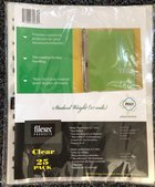 Clear Sheet Protectors 25/Pack