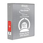 """Bazic 1.5"""" 3-Ring View Binder"""
