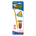 BAZIC #2 Triangle Yellow Pencil with Sharpener