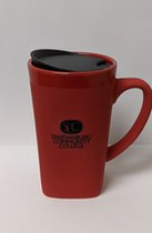 Soft Touch Ceramic Mug with Lid