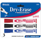 Chisel Tip Dry-Erase Markers Assorted 3/Pack
