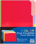 Bazic 1/3 Cut Letter Size Color File Folder 6/Pack