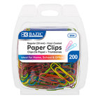 Color Paper Clips 200/Pack