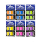Neon Color Standard Flags W/Dispenser 2/Pack