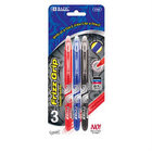 Bazic Frizz Assorted Color Erasable Gel Pen 3/Pack